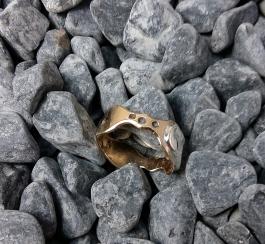 ring Bronze, Sterling Silver size 9.5 - 5