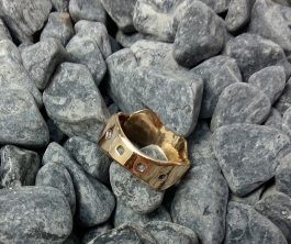 ring Bronze, Sterling Silver size 9.5 - 8